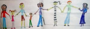 Kindertekening gezin
